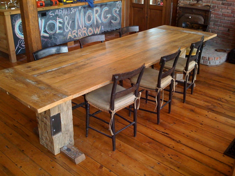 12u0027 Long Dining Room Table, Reclaimed Barn Wood Photo Gallery